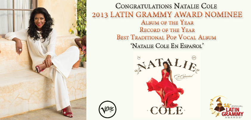 NATALIE COLE Receives THREE LATIN GRAMMY Nominations