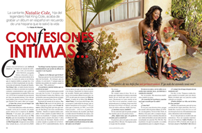 Confesiones Intimass ... A Vanidades Magazine Interview with Natalie Cole.